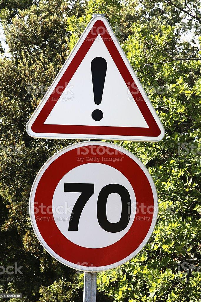 Speed-limit Sign stock photo