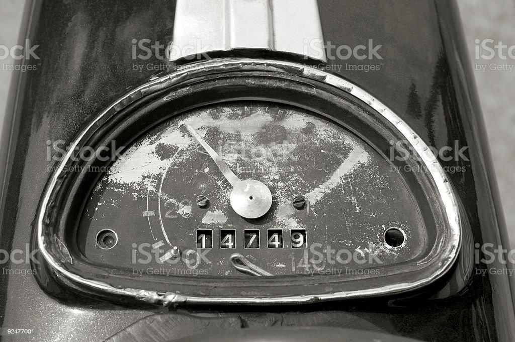 Speedmeter royalty-free stock photo