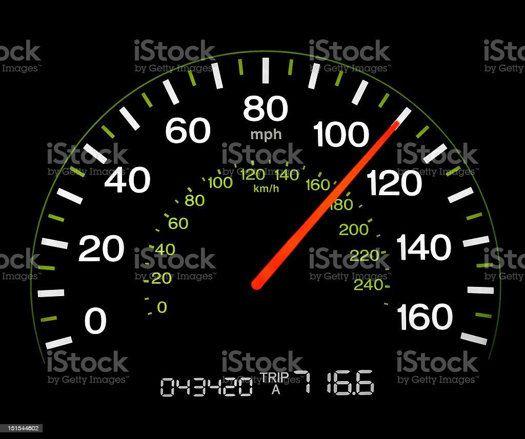 Speedometer - 110 MPH royalty-free stock photo