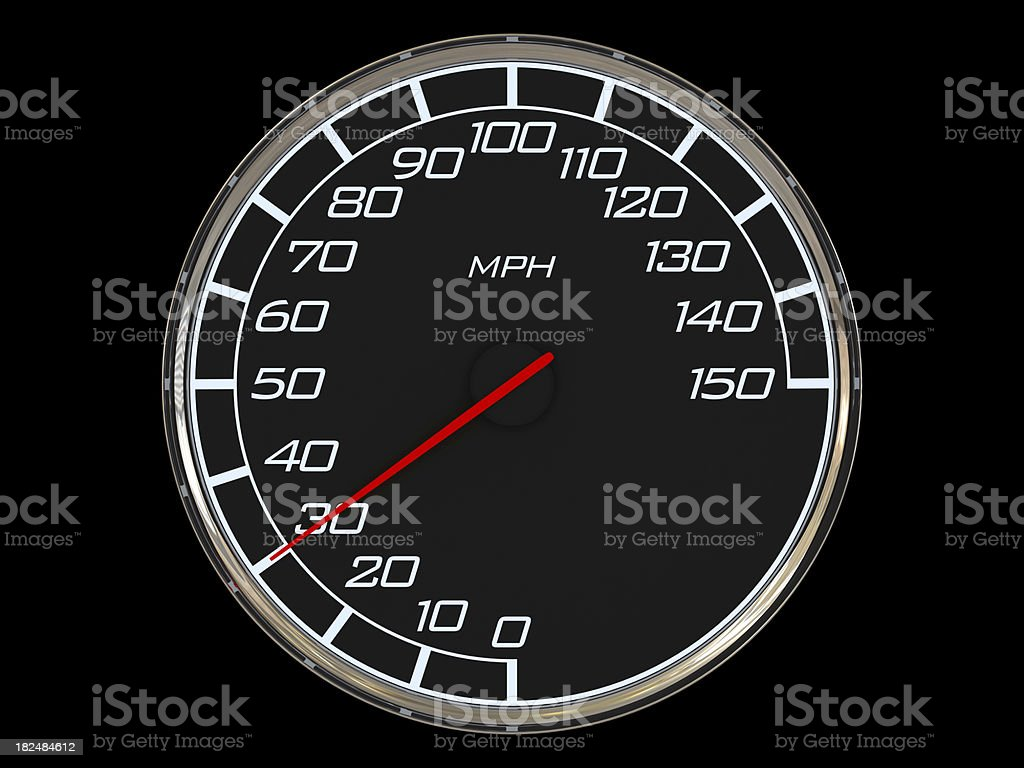 Speedometer - 30MPH royalty-free stock photo