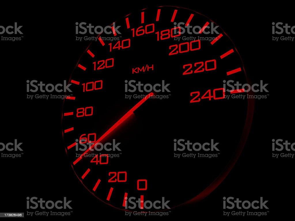 Speedometer 50 km/h stock photo