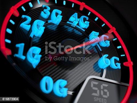 istock Speedometer 5G evolution 616873904