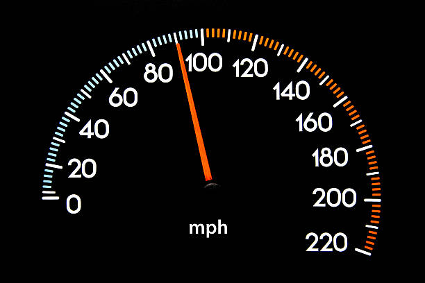 speedometer 90 mph - number 90 stock photos and pictures
