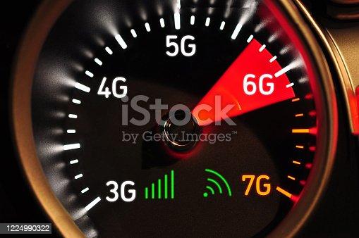 istock Speedometer and 6G high speed internet 1224990322