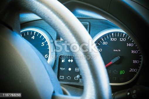 istock Speedometer and dashboard of the car 1157763253