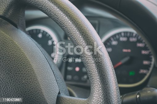 521911567 istock photo Speedometer and dashboard of the car 1190420861