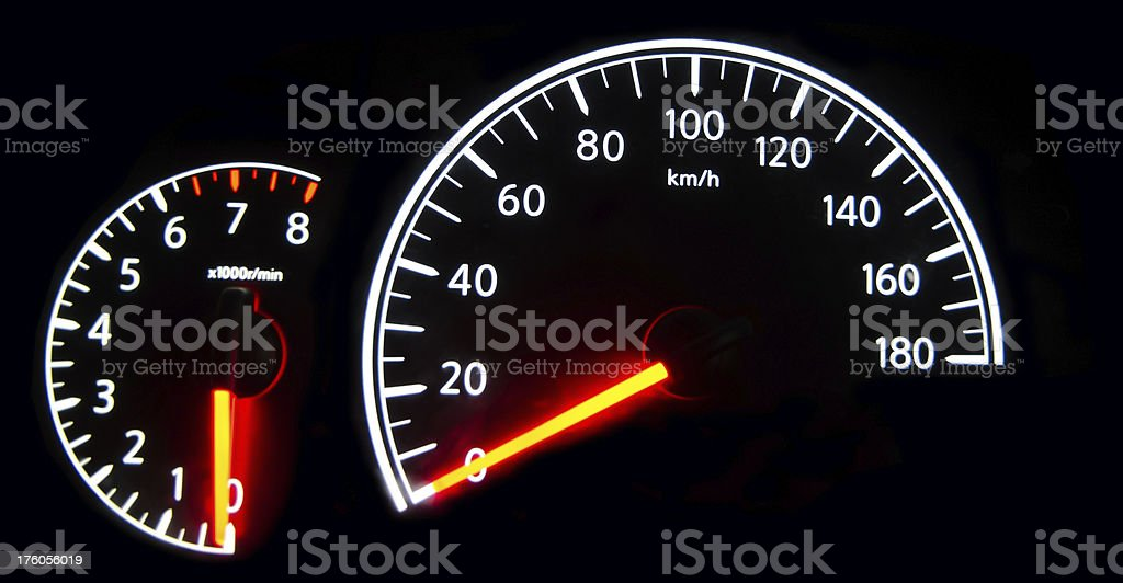 speedometer  and rpm stock photo