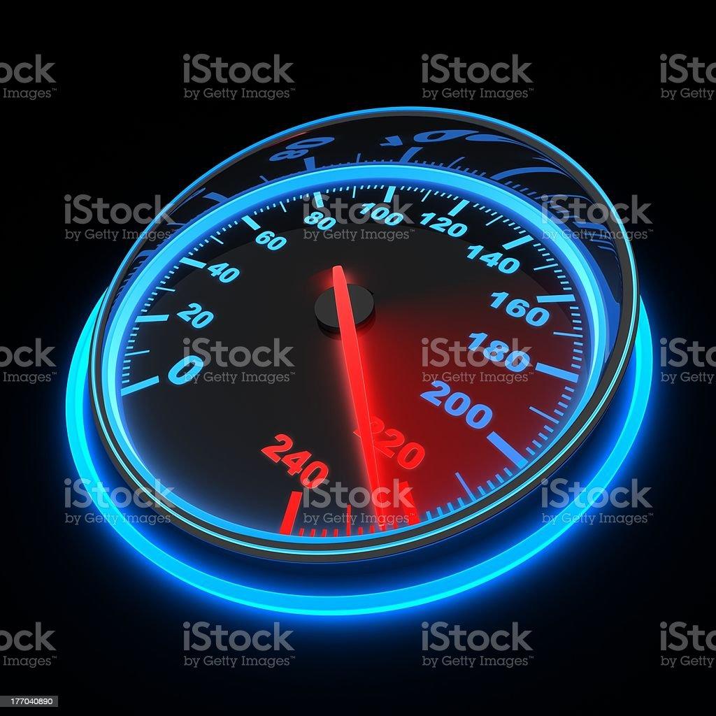 Speedometer car stock photo
