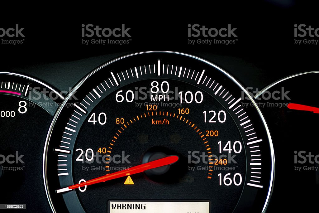 Speedometer CloseUp stock photo