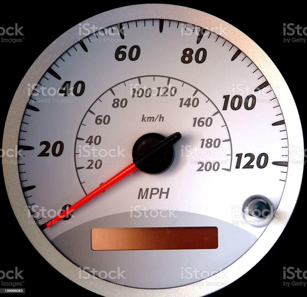 Speedometer Dial [isolated, black] royalty-free stock photo