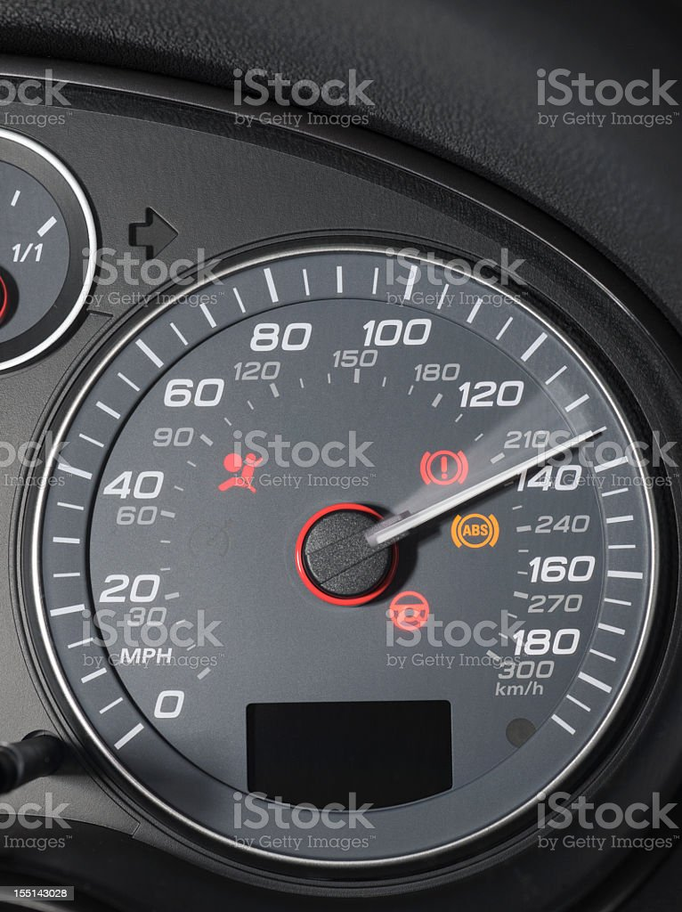 Speedometer Display: Very High Speed stock photo