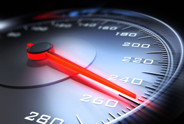 Velocímetro de alta velocidad - foto de stock