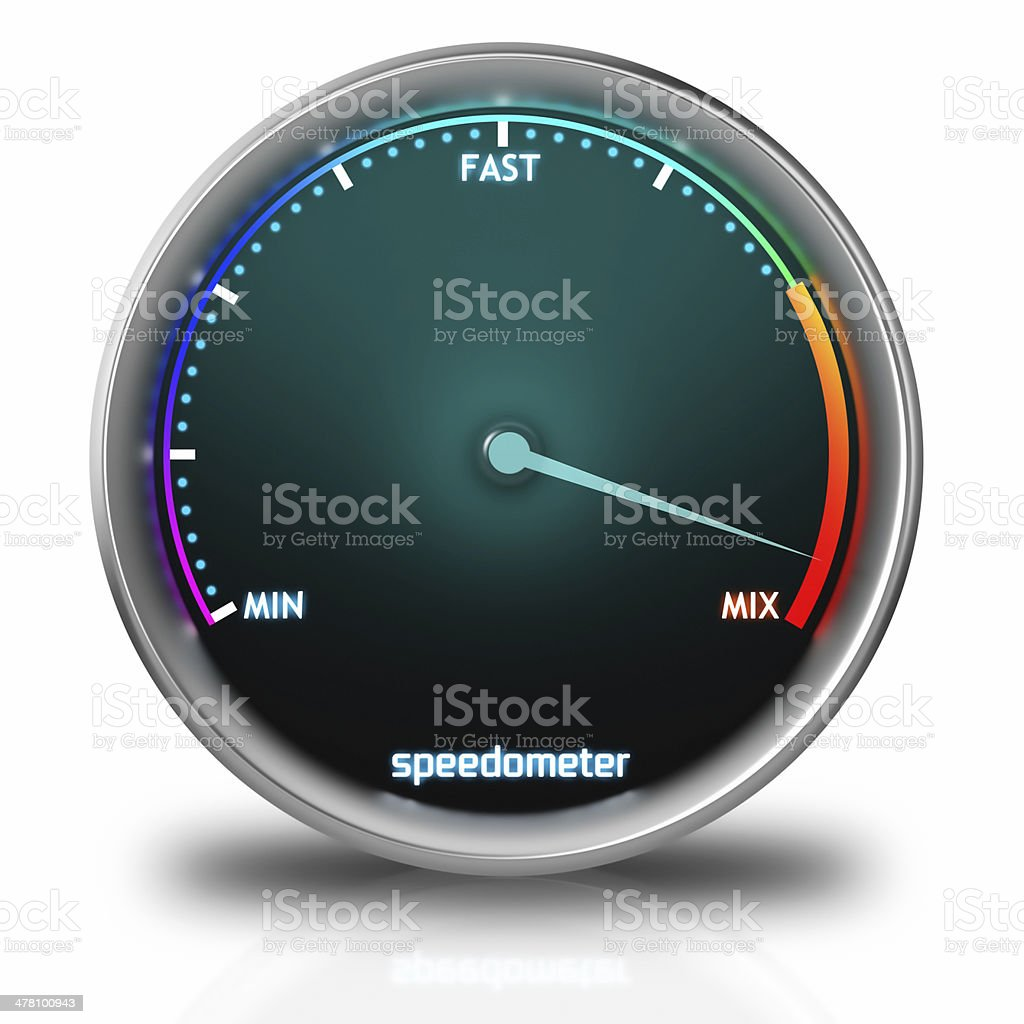 Speedometer Icon stock photo