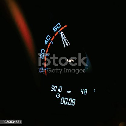 521911567 istock photo Speedometer in the car on the dashboard 1080934674