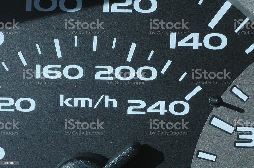 Speedometer Macro royalty-free stock photo