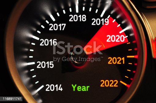 2020 Speedometer New year concept