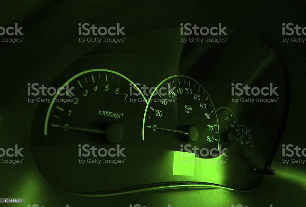 Speedometer of the car royalty-free stock photo