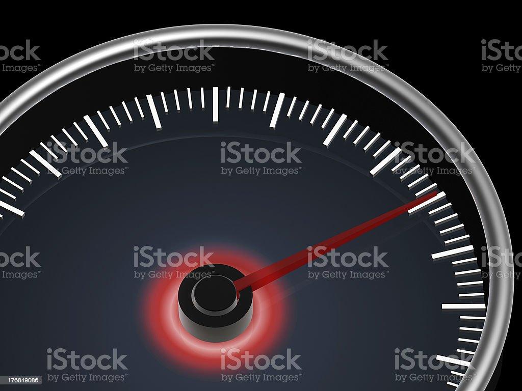 speedometer on dark background royalty-free stock photo