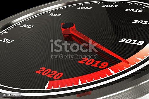 2019 Speedometer. New Year Concept