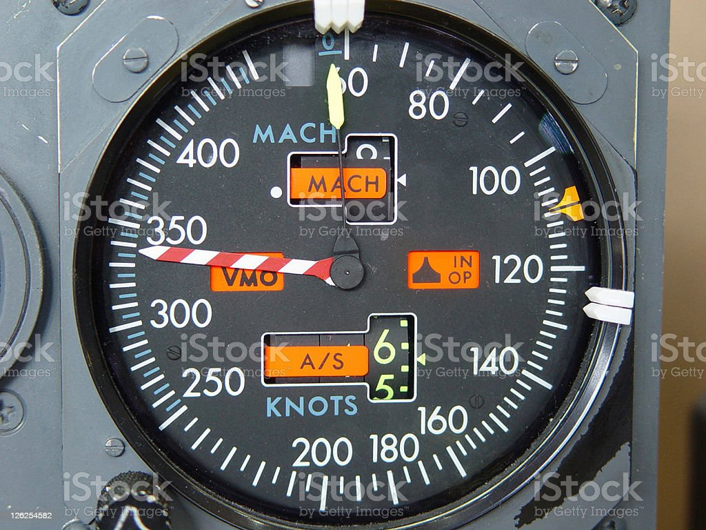 B737 (Boeing) Speedometer royalty-free stock photo