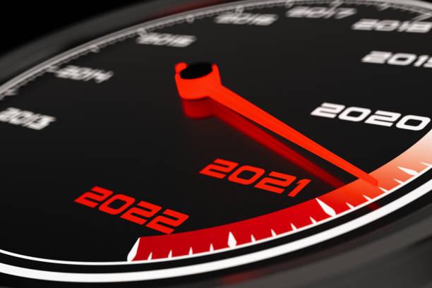 2021 Speedometer stock photo