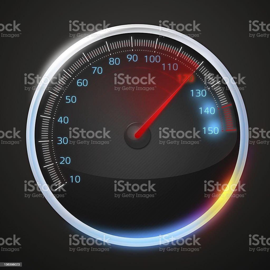 Speedometer - Royalty-free Black Color Stock Photo