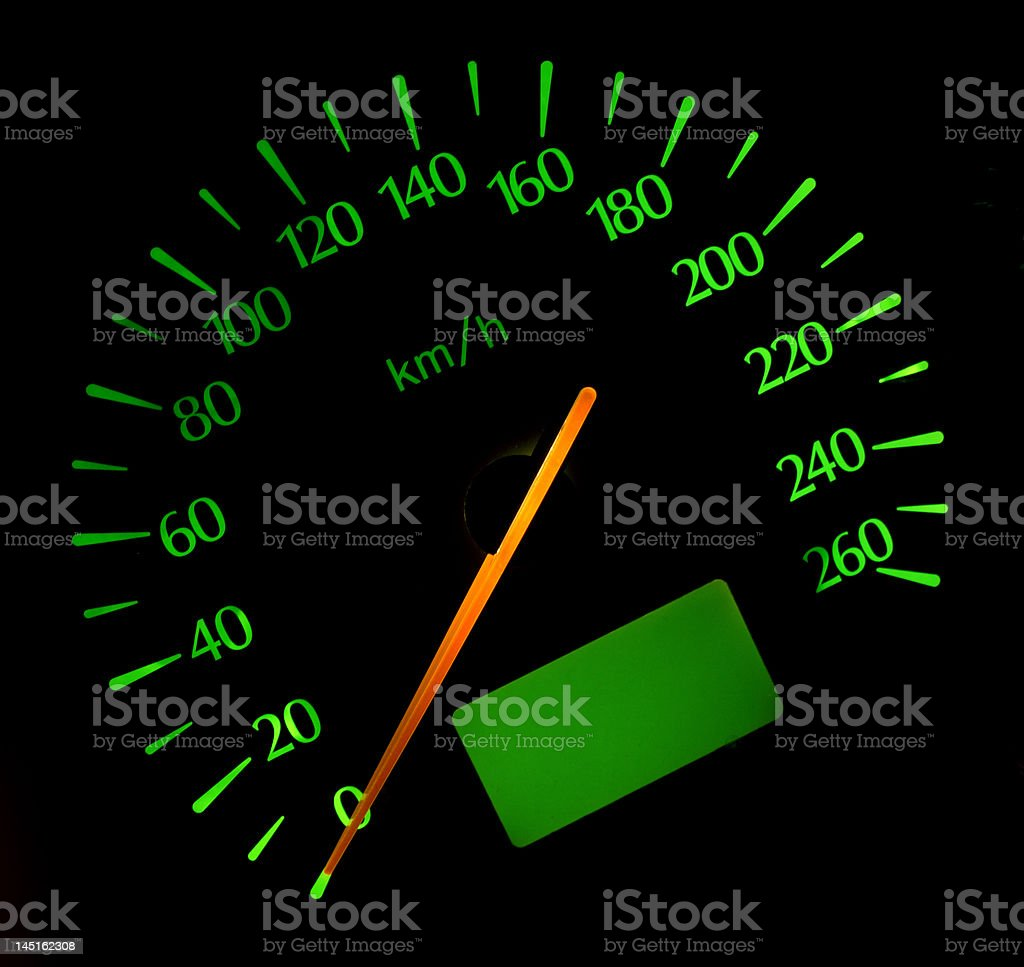 Speedometer stock photo