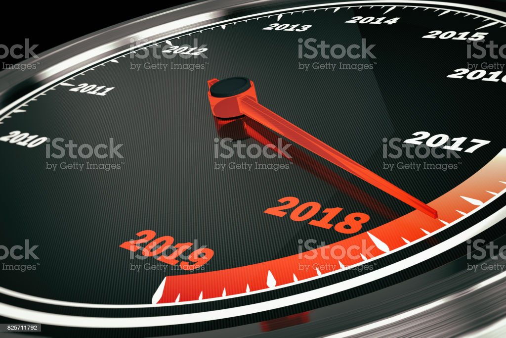 2018 Speedometer stock photo