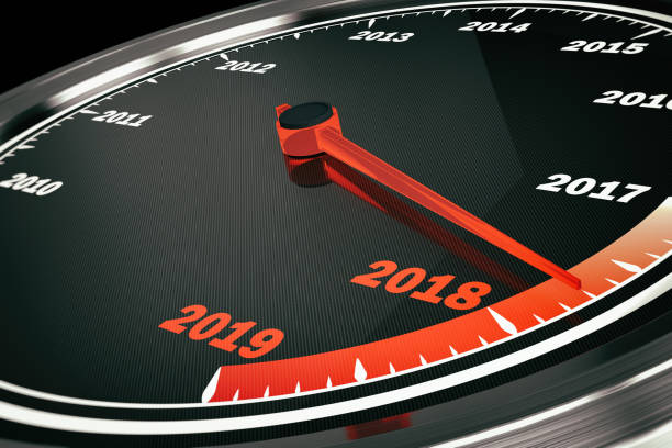 2018 speedometer - historic vs new stock photos and pictures