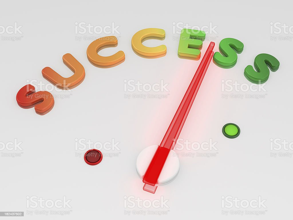 Speedometer - Success royalty-free stock photo