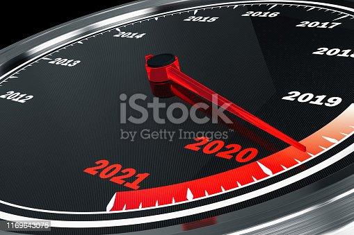 2020 Speedometer. 3D Render
