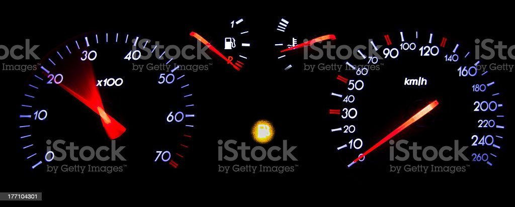 Odometer accelerating and low fuel warning