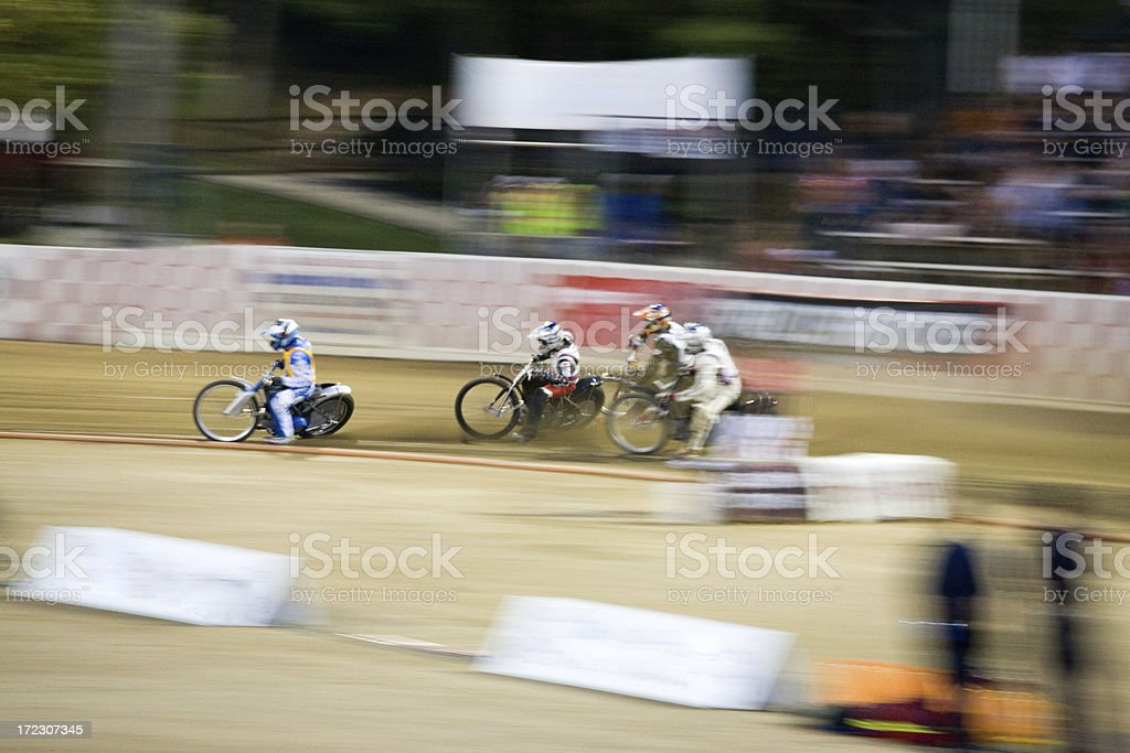 Speedway Race Of Four stock photo
