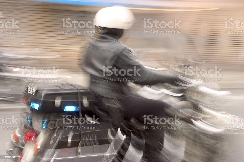 Speedy Cop royalty-free stock photo
