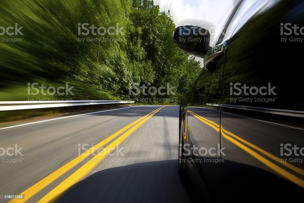 Speedy Driving royalty-free stock photo