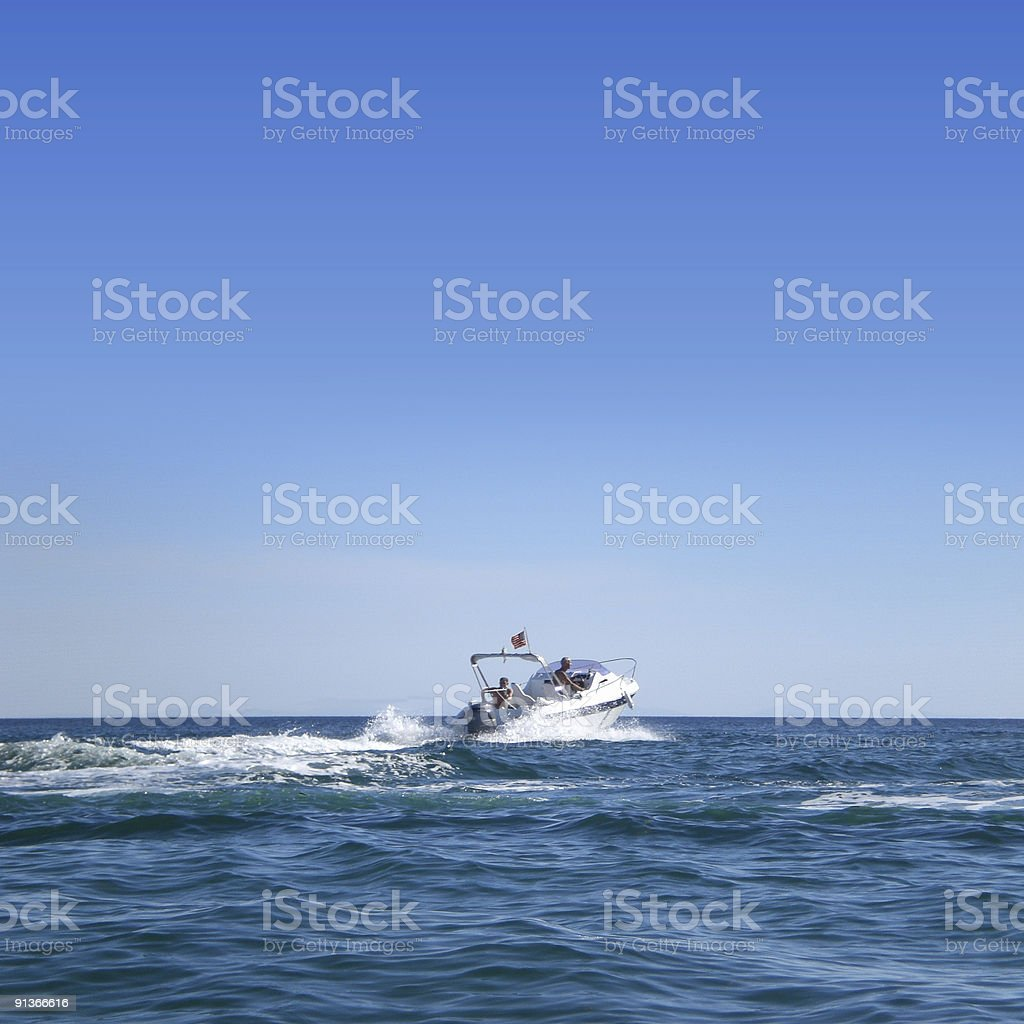 Speedy Motorboat royalty-free stock photo