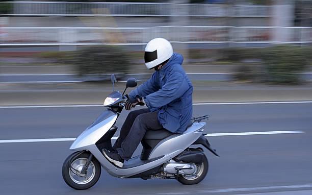 Speedy scooter stock photo