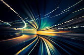 istock Speedy Train, blurred motion 918593754