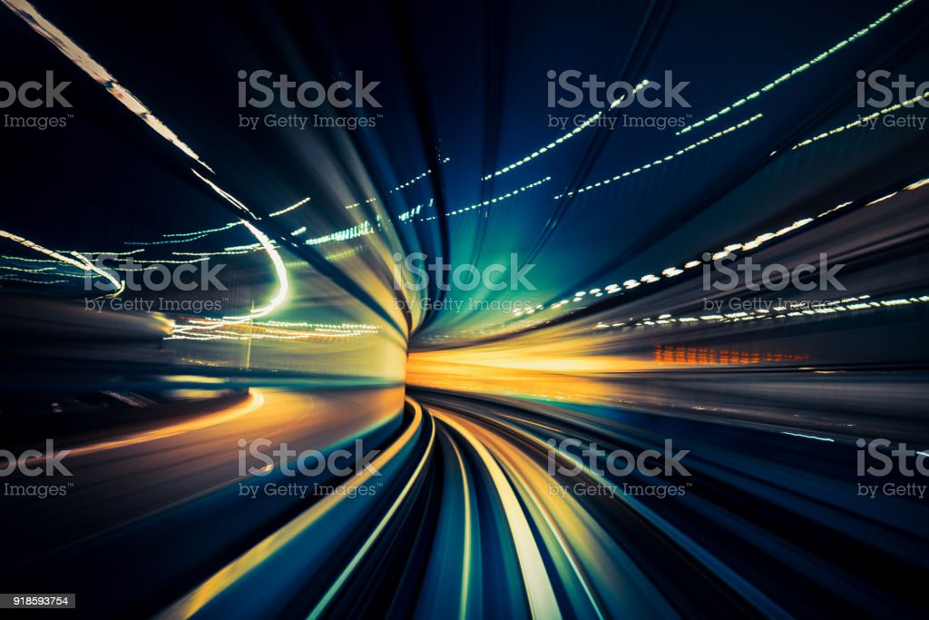 Speedy Train, blurred motion stock photo