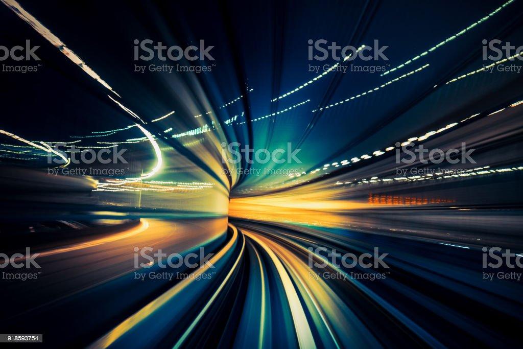 Schnellen Zug, Bewegungsunschärfe – Foto