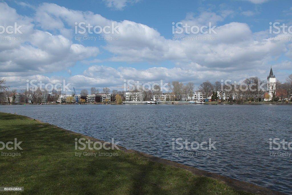 Speeufer am Treptower Park stock photo
