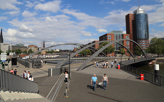 Speicherstadt and office buildings in Hamburg, Germany