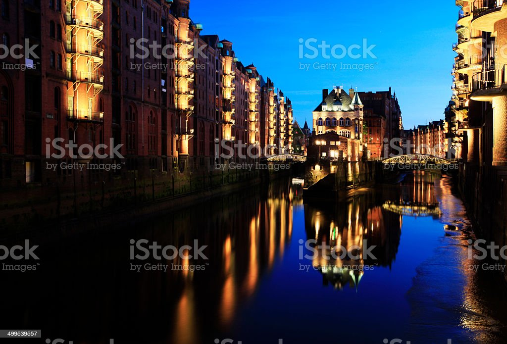 Speicherstadt, Hamburg royalty-free stock photo