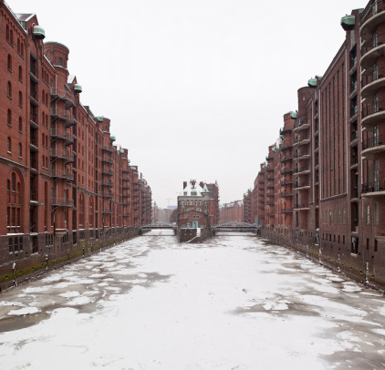 Speicherstadt In Winter