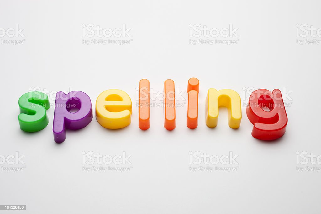 spelling royalty-free stock photo