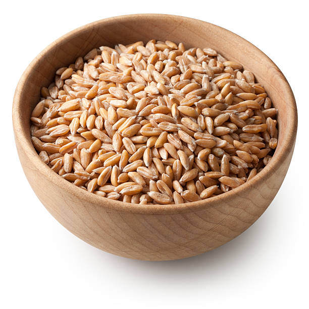Spelt Spelt. Photo with clipping path. spelt stock pictures, royalty-free photos & images