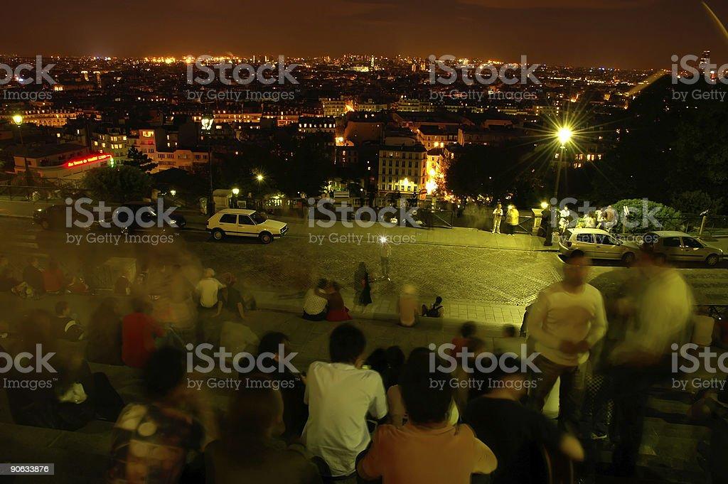 Verbringen Sie am späten Abend in Paris-Panorama – Foto
