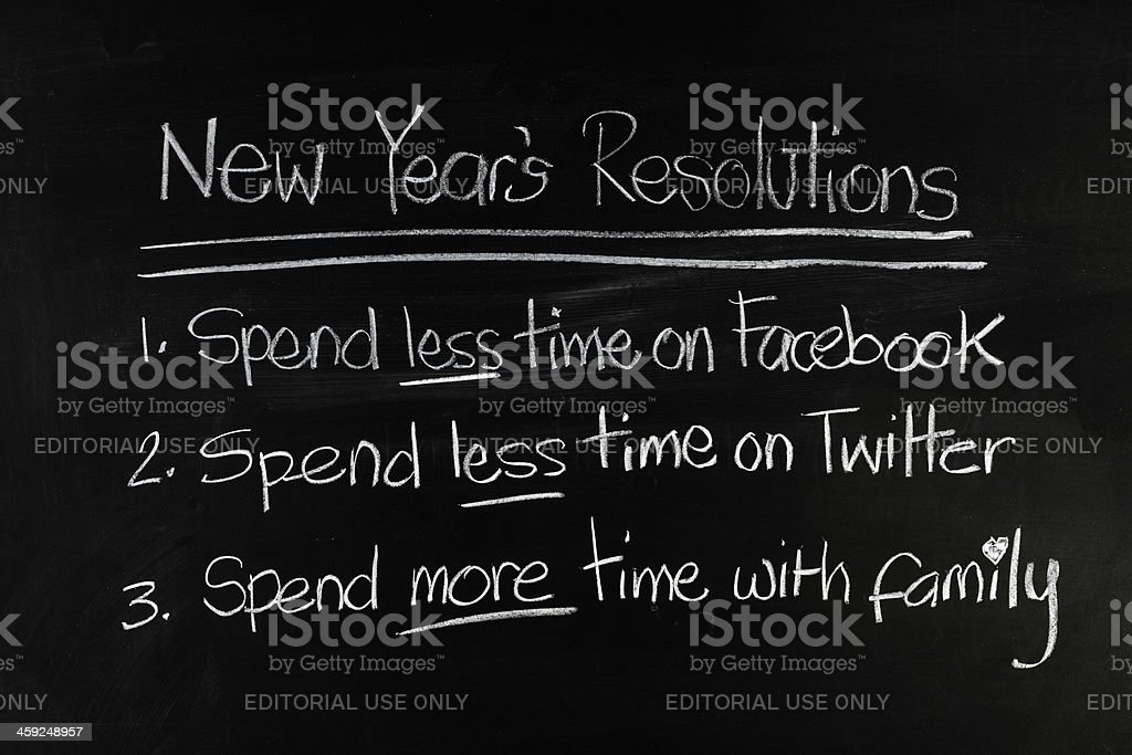 Spend Less Time on Facebook and Twitter royalty-free stock photo