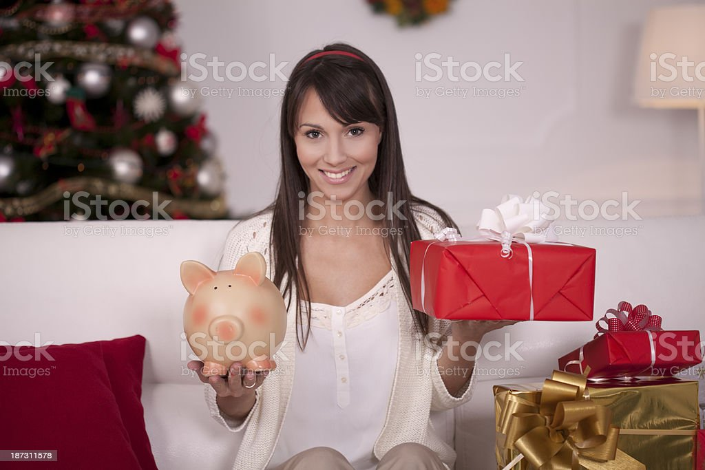 Spend or save? royalty-free stock photo