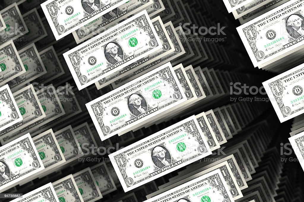 Spendidng Dollars royalty-free stock photo